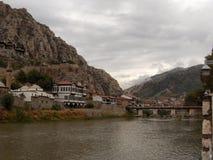 Amasya - Green River Fotografie Stock