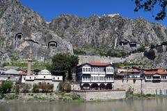 Amasya i Yesilırmak rzeka w Turcja obrazy royalty free