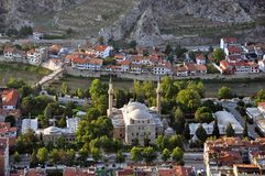 Amasya in Turkey. A view over the city of Amasya in Turkey royalty free stock images