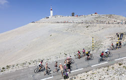 Amatörmässiga cyklister på Mont Ventoux Royaltyfria Bilder