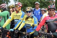Amatörmässiga idrottsman nen från olika grupper i Pluak Daeng deltog i aktiviteten Royaltyfria Foton