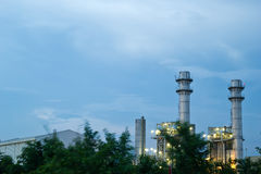 Amata nakhon electric power on night Stock Image