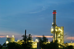 Amata nakhon electric power on night Stock Photos