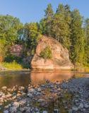Amata river in the Vidzeme region of Latvia Stock Photo