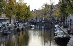 Amaterdam kanał Obrazy Royalty Free