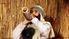 Amateur actor. Egyptian amateur actor playing a role in an religious film Royalty Free Stock Images