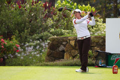 Amateur Aretha Pan tees off at LPGA Malaysia Royalty Free Stock Photos
