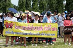 Amateur athletes from different groups in Pluak Daeng participated in the activity. Health promotion And to resist the drug of people in Pluakdaeng district stock photography