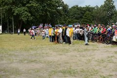 Amateur athletes from different groups in Pluak Daeng participated in the activity. Health promotion And to resist the drug of people in Pluakdaeng district Royalty Free Stock Photo