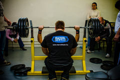 Amateur bench press championship Stock Photos