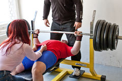 Amateur bench press championship Royalty Free Stock Images