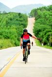 Amateur bike athletes make the most of their efforts in the Bicycle race Charity Trip. `Nhong Yai Country Road, please ask` on 2018/06/24 at Nhong Yai,Chonburi royalty free stock image