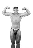 Amateur bodybuilder posing Royalty Free Stock Photography
