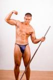 Amateur bodybuilder posing Stock Photography