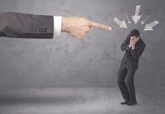 Amateur businessman under pressure Royalty Free Stock Photo