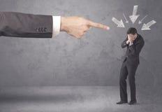 Amateur businessman under pressure Royalty Free Stock Images