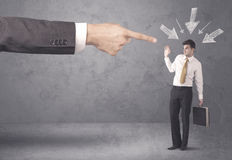 Amateur businessman under pressure Stock Photo