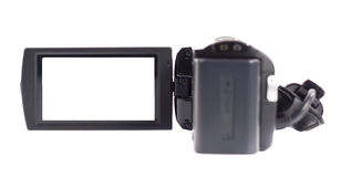Amateur camcorder. On white background stock images