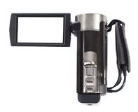 Amateur camcorder. On white background royalty free stock photo