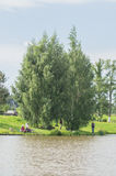 Amateur competitions on sports fishing in the Kaluga region of Russia. On the waters very often hosts various competitions between fishermen, held both royalty free stock photos