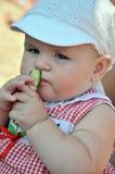 Amateur of  cucumber Stock Photos