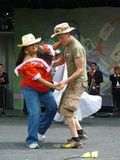 Amateur Dancers. Photo of amateur dancers at the cinco de mayo celebration on 5/2/10 at the washington monument grounds in washington dc. These two people are royalty free stock image