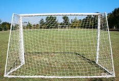 Amateur field. Football field for amateur matches stock image