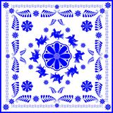 Amateur and folk arts (gzhel). The image of amateur and folk arts (gzhel Royalty Free Stock Photography
