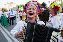 Amateur folk on Maidan Royalty Free Stock Photos