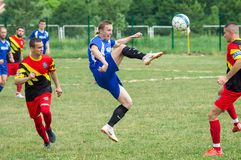 Amateur football competitions in the Kaluga region of Russia. The annual football championship among Amateur teams of municipalities is held in Kaluga region stock photo