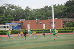 Amateur football match in SHENZHEN Royalty Free Stock Photo