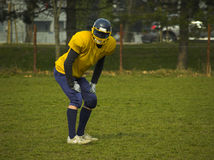 Amateur Football Player Stock Photo