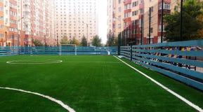 Amateur football stadium Stock Photo
