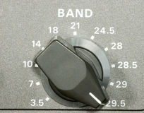 Amateur frequency selector Stock Images