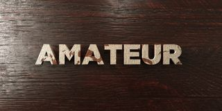 Amateur - grungy wooden headline on Maple  - 3D rendered royalty free stock image Stock Images