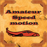 Amateur high-speed traffic. The new collection of the brand, sales of excellent quality stylish design, advertising, business card. Vintage retro background Stock Photos