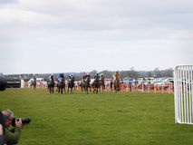 Amateur Horse Racing Jumping over Fences Royalty Free Stock Image