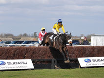 Amateur Horse Racing Jumping over Fences Royalty Free Stock Photo