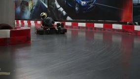Amateur-kart Rennen stock video