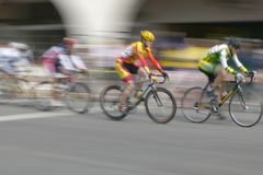 Amateur Men Bicyclists Stock Photo