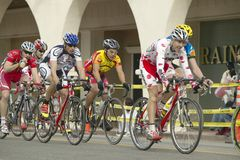 Amateur Men Bicyclists. Competing in the Garrett Lemire Memorial Grand Prix National Racing Circuit (NRC) on April 10, 2005 in Ojai, CA Stock Photos