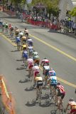 Amateur Men Bicyclists. Competing in the Garrett Lemire Memorial Grand Prix National Racing Circuit (NRC) on April 10, 2005 in Ojai, CA Stock Image