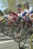 Amateur Men Bicyclists. Competing in the Garrett Lemire Memorial Grand Prix National Racing Circuit (NRC) on April 10, 2005 in Ojai, CA Stock Photography