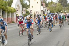 Amateur Men Bicyclists competing in the Garrett Lemire Memorial Grand Prix National Racing Circuit (NRC) on April 10, 2005 in Ojai Stock Photography