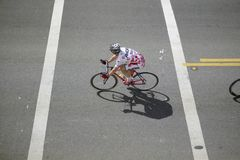 Amateur Men Bicyclists competing in the Garrett Lemire Memorial Grand Prix National Racing Circuit (NRC) on April 10, 2005 in Ojai Stock Images