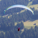 Amateur paraglider Royalty Free Stock Photos