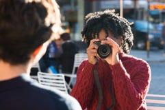 Amateur photographer Royalty Free Stock Image