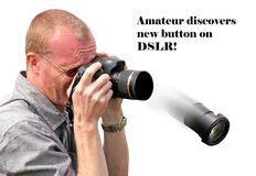 Amateur photographic skills royalty free stock images