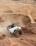 Amateur race in the desert, summer day Royalty Free Stock Photo