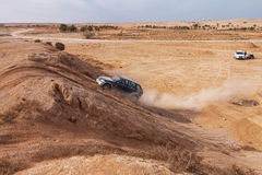 Amateur race in the desert, summer day. Stock Photo